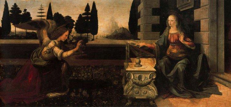 Da Vinci, La Anunciación