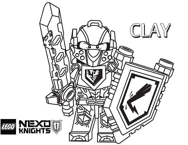 Dibujos De Clay Caballero En Nexo Caballeros Para Colorear