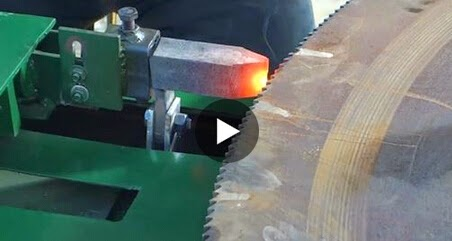saw and grinding: Hot saw blade teeth tip hardening machine