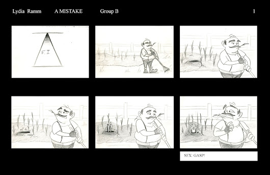 "Storyboarding: Boards for ""A MISTAKE"""