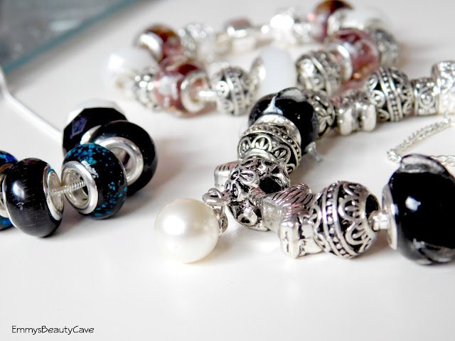 Glass Bead Charm Bracelets