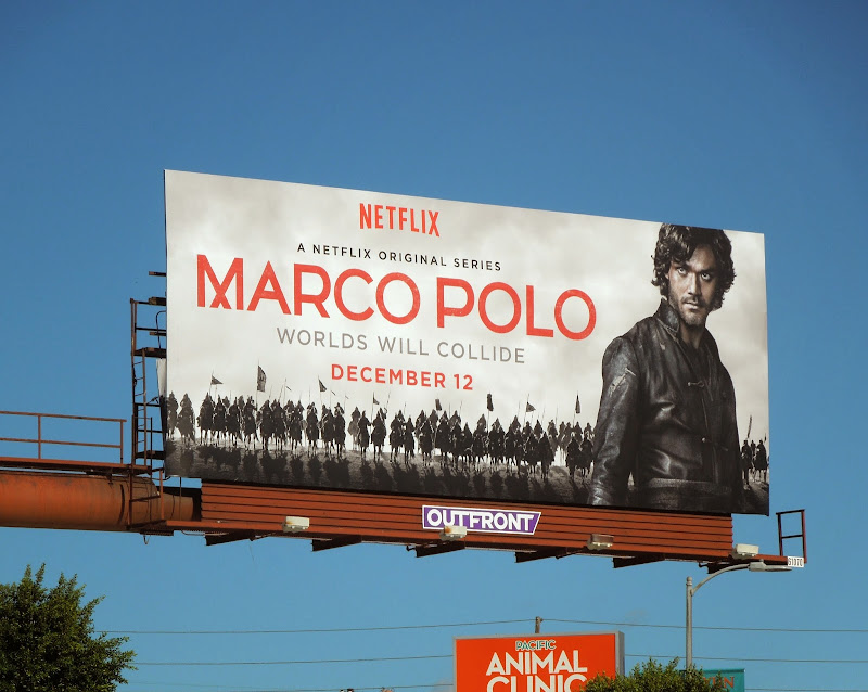 Marco Polo series premiere billboard