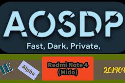 AOSDP-9.0-Alpha-mido-20190408 Build (Video)