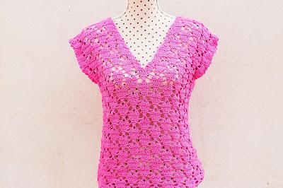 3 - Crochet IMAGENES Blusa de corazones muy fácil y sencilla. MAJOVEL CROCHET