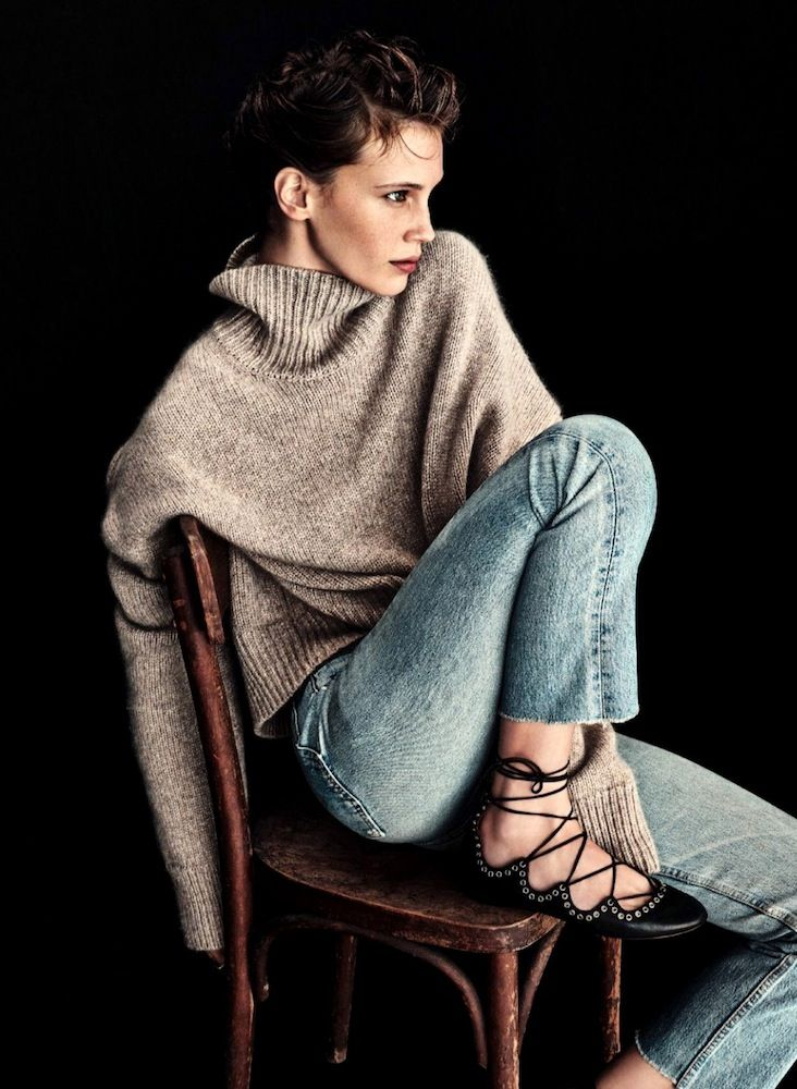 This French Girl's Cozy Fall Outfit Is Incredibly Chic – Marine Vacth Style