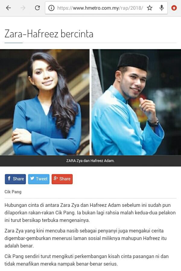 Betul ke Zara dan Hafreez bercinta?