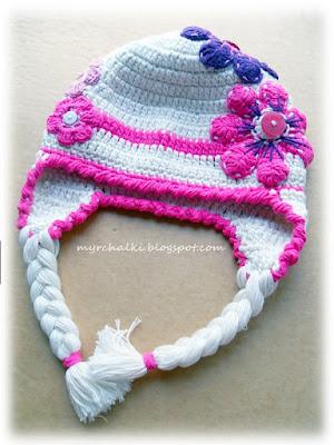 шапочка крючком для девочки