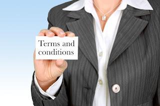Términos y condiciones de un contrato