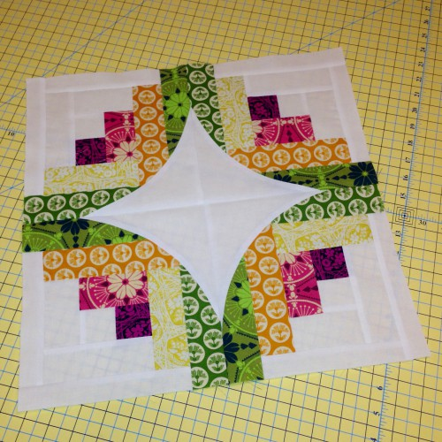 Curve it Up Quilt (Block 7) designed by Dueling Threads