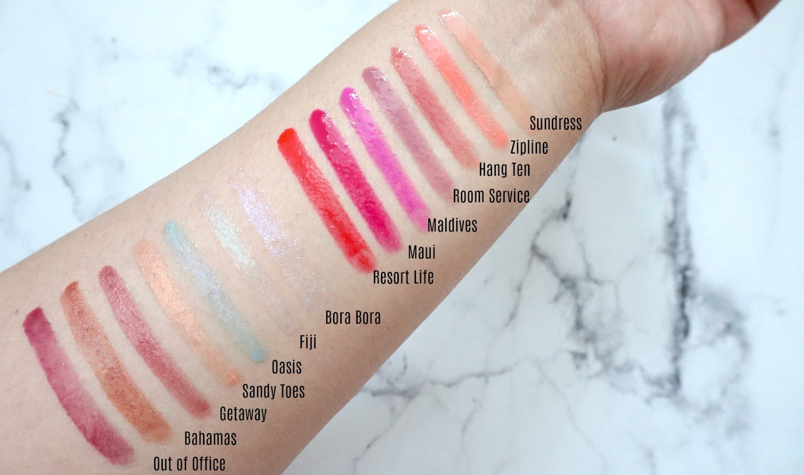 6f4faba4db7 Review   Swatches  TARTE H2O Lip Gloss - Rainforest of the Sea ...