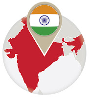 Indian flag and map