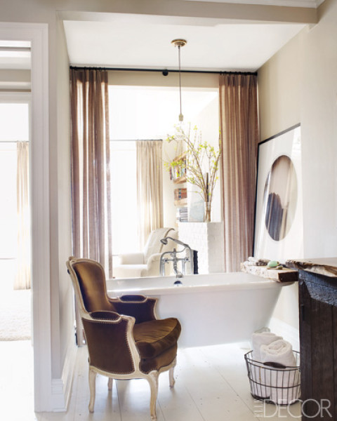 Chairs in the Bathroom | The Well Appointed House Blog: Living the ...