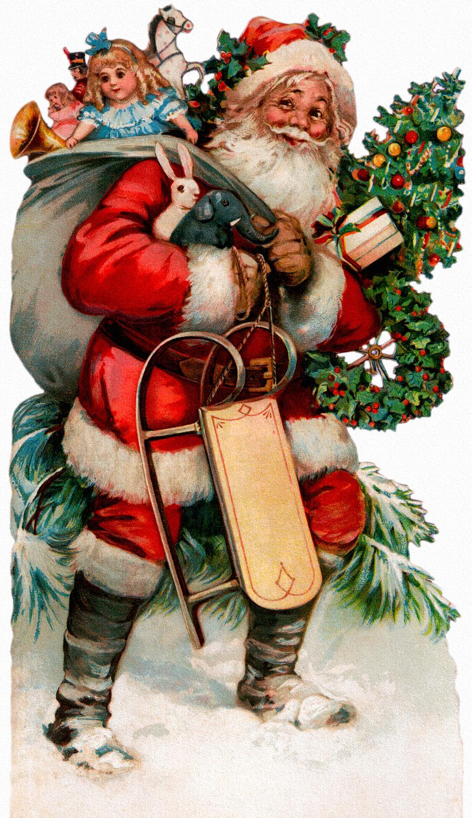 Vintage Santa Images 104