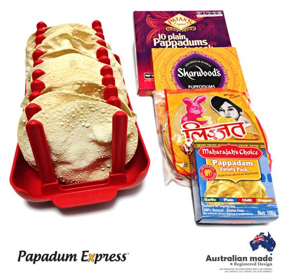 Indian Pappadums, Puppodums or Pappadams, Papadum Express