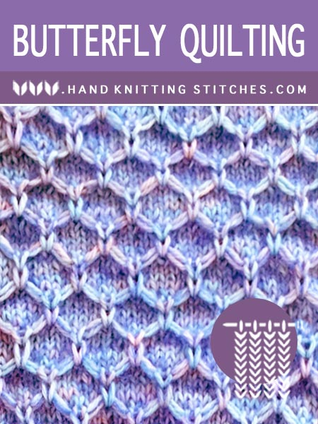 The Art of Knitting, Butterfly Quilting #SlipStitchKnitting