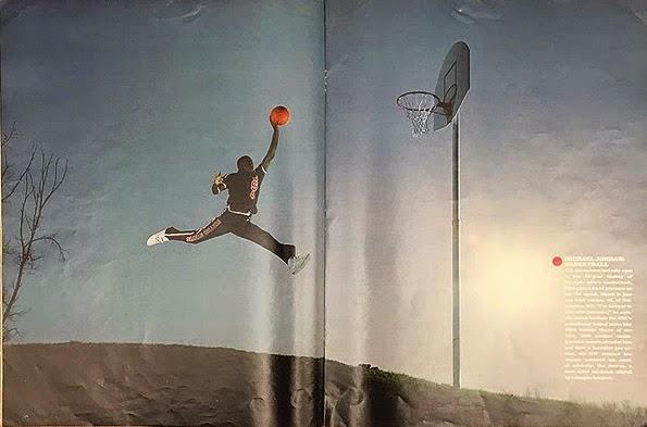 Fotografía de Michael Jordan en la revista Life