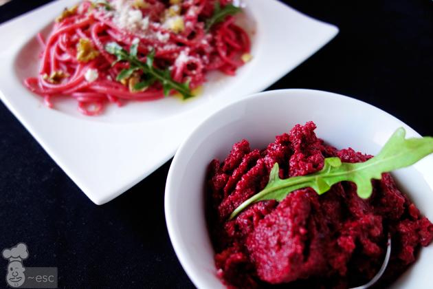 Pesto rojo de remolacha y nueces