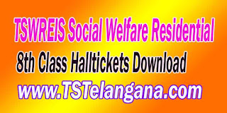 Telangana TSWREIS Gurukulam 8th Class Entrance Test 2017 Halltickets Download
