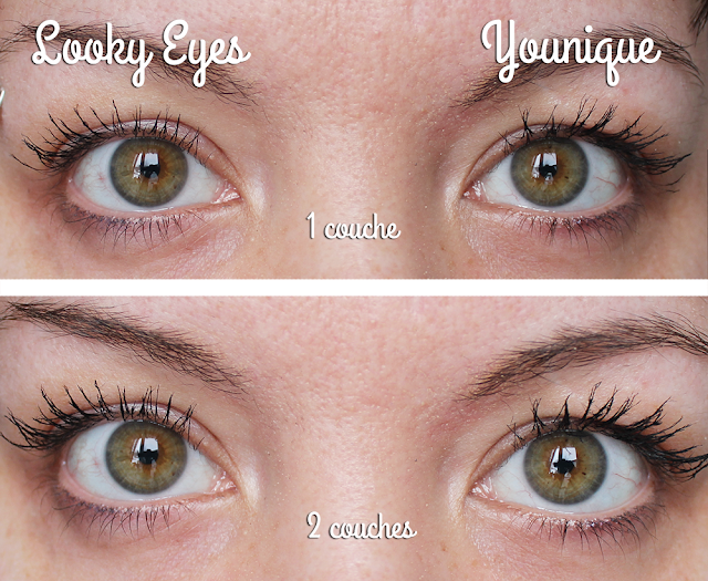 Comparaison Younique Looky Eyes Mascara