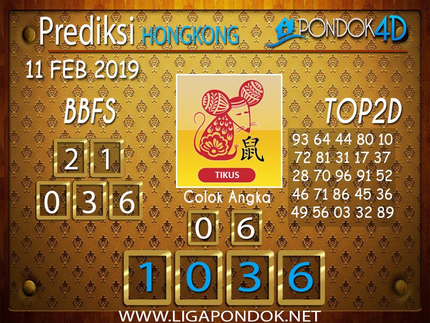 Prediksi Togel HONGKONG PONDOK4D 11 FEBRUARI 2019