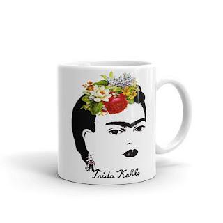 frida kahlo signature coffee mug