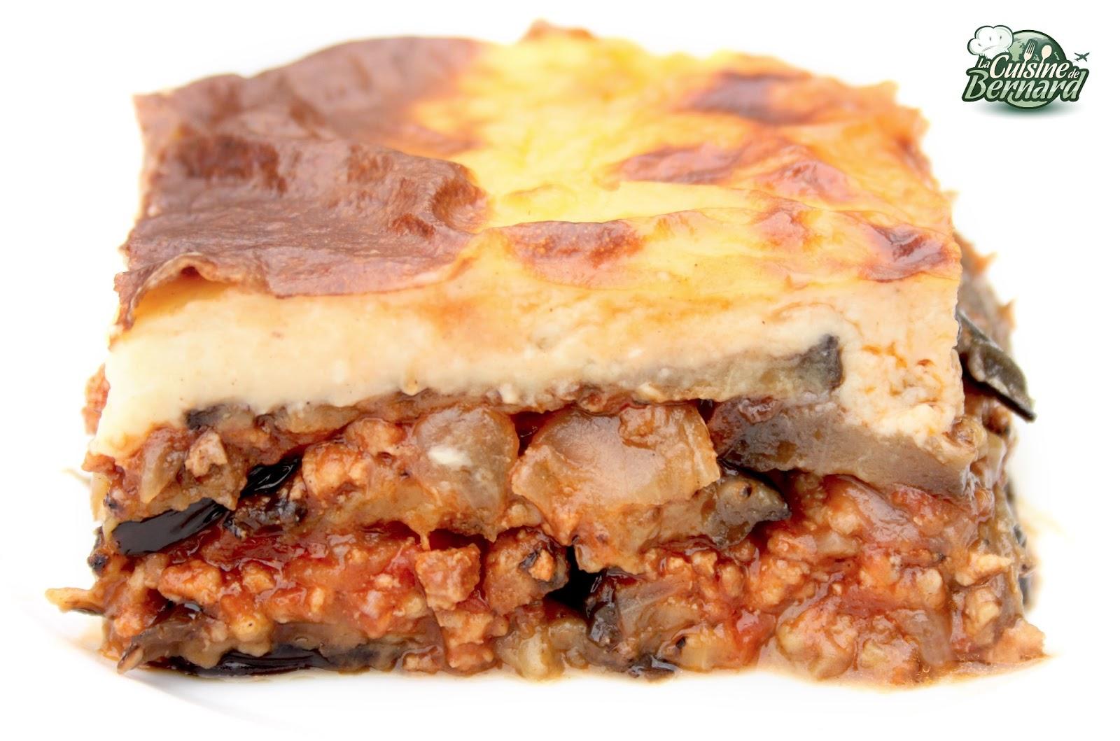 La cuisine de bernard moussaka grecque for Cuisine de bernard