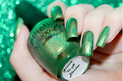 """Swatch of the nail polish """"Grinch In A Blender"""" from NailNation 3000"""
