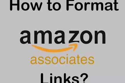 How to format Amazon.in Affiliate Links?