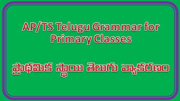 AP/TS Telugu Grammar for Primary Classes