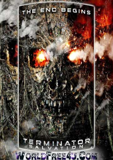 Poster Of Terminator Salvation (2009) BRRip Hindi Dubbed 720P Full Movie Free Download And Watch Online At worldfree4u.com