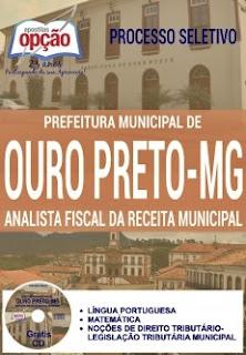 Apostila Concurso Prefeitura de Ouro Preto MG 2016