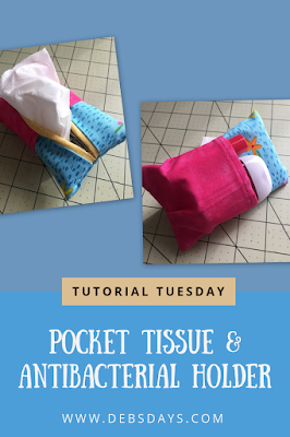 Pocket Tissue Holder Pouch with Pocket for Hand Sanitizer and Lip Balm Sewing Project