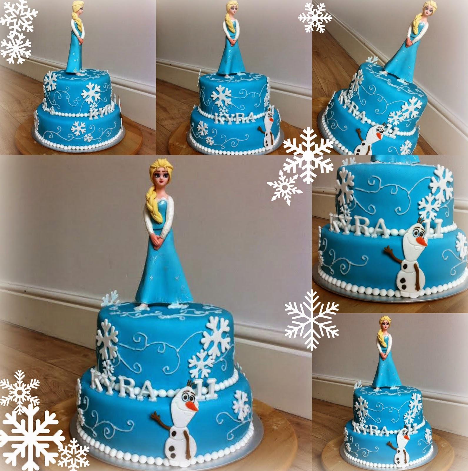 frozen 3d taart Taarten van Elena en Marcela: Frozen 3d Elsa 2 lagen taart (pop is  frozen 3d taart