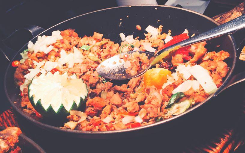 Lechon sisig at Dusit Thani Manila's The Pantry