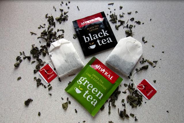 black tea a green tea - čierny a zelený čaj značky Mistral