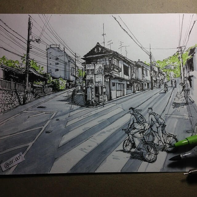 05-Japan-HAO-Sketches-Fineliners-Urban-Architectural-www-designstack-co