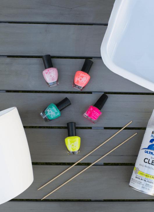 PUNTXET Doble tutorial maceta decorada con pintauñas y macetero colgante