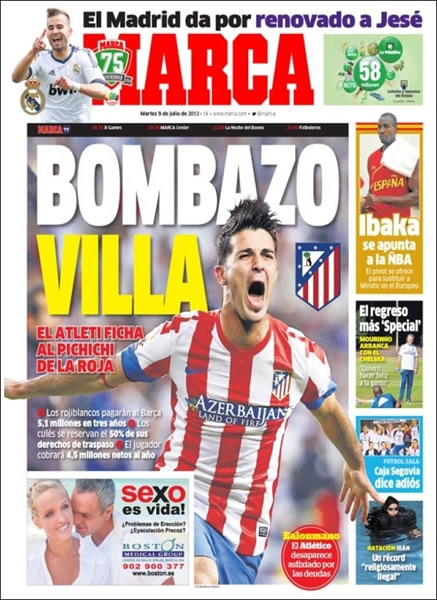 David Villa al Atlético de Madrid