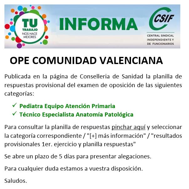 CSIF Torrevieja Salud: Planilla de respuestas OPE Pediatra A.P. Y ...