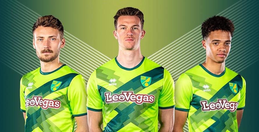 5e029663f30 Norwich City and Erreà today released the new 2018-2019 third kit. Check  out the home and away