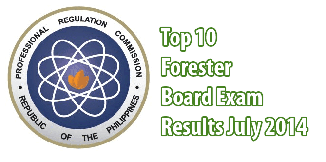 Forestry Board Exam Topnotchers July 2014