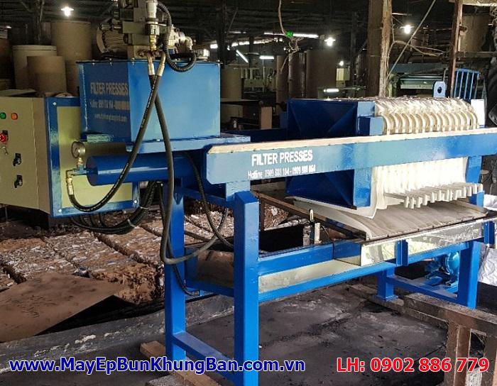 Lắp đặt hoàn thiện máy ép bùn khung bản Vĩnh Phát tại công trình xử lý nước thải của nhà máy Hiệp Hưng