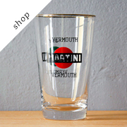 Vintage Martini dry shaker glass by LoquitaVintage