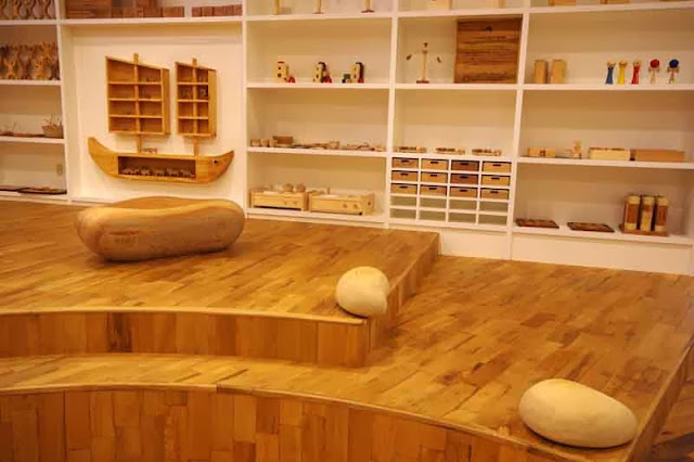 wooden toy museum interior