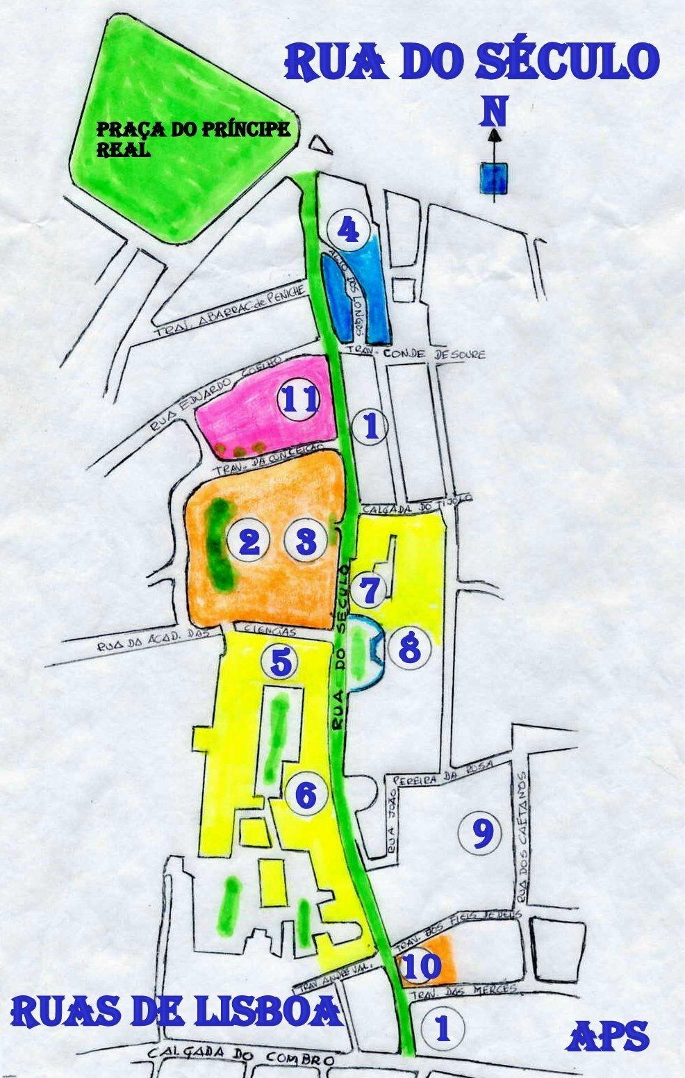 rua do século lisboa mapa RUAS DE LISBOA ALGUMA HISTÓRIA: RUA DO SÉCULO [ I ] rua do século lisboa mapa