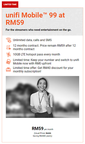 Unifi Mobile RM59 (unlimited)