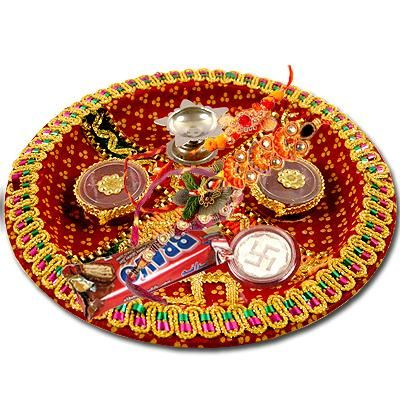 Raksha Bandhan Thali Decoration Ideas puja samagri
