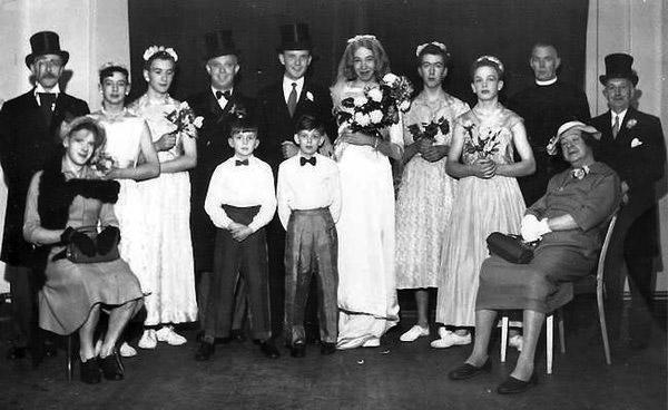 womanless wedding, circa 1950