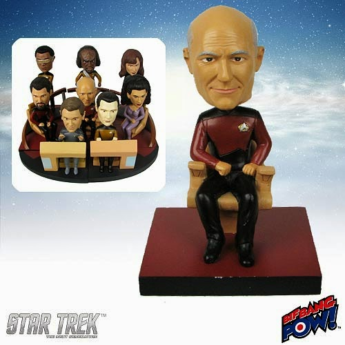 Star Trek: The Next Generation Captain Jean-Luc Picard Build-a-Bridge Bobble Head by Bif Bang Pow!