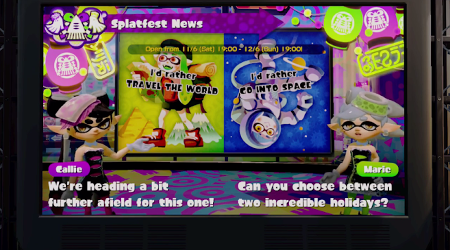 Splatoon Splatfest European travel the world go into space Callie Marie